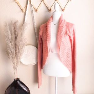 Free People Fuzzy Mohair Blend Open Cardigan